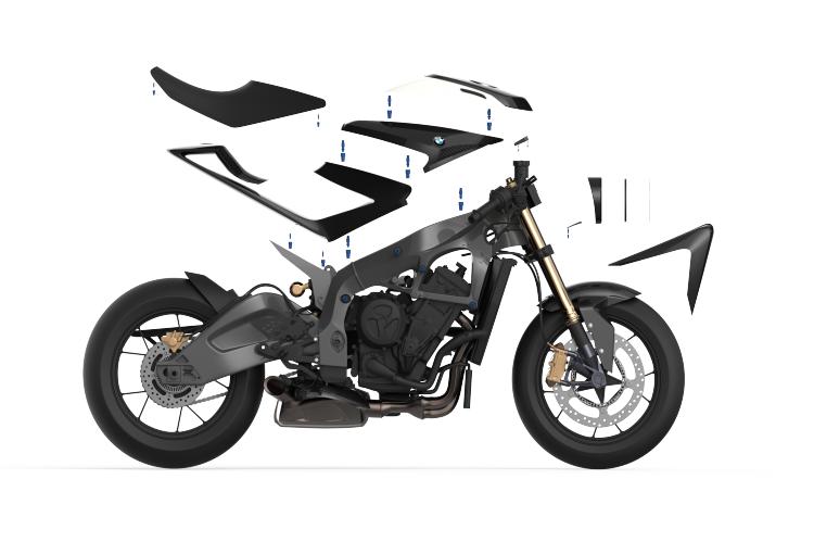 Modular shapes in der motorrad szene angekommen for Produktdesign studium