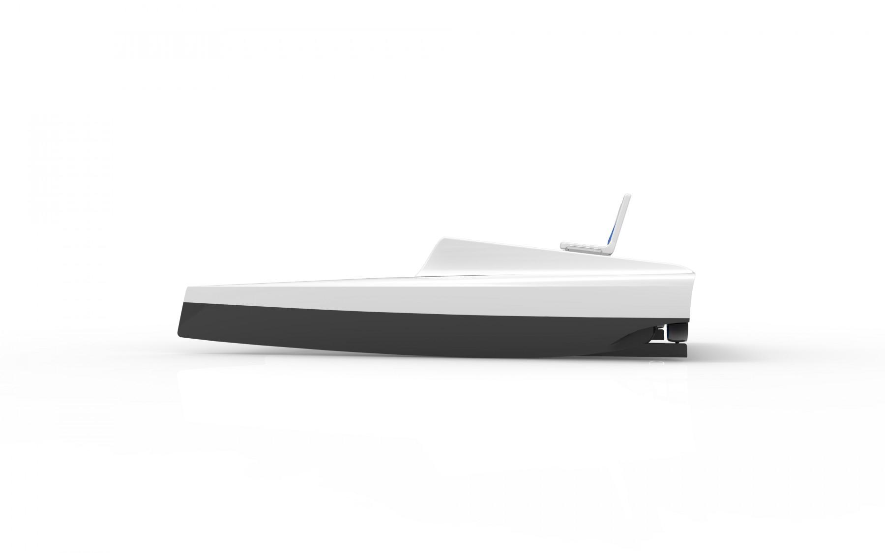 Katamarantretboot produktdesign for Studium produktdesign