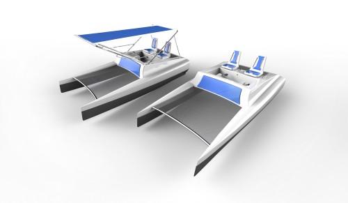 Katamarantretboot produktdesign for Produktdesign studium